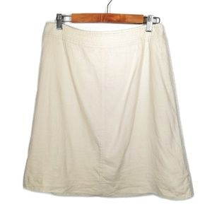 BANANA REPUBLIC Ivory Linen A-line Skirt Womens 8P
